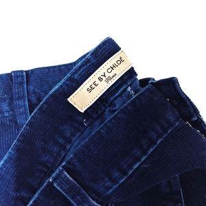 See By Chloé Blue Flare Leg Corduroy Jeans sz 8